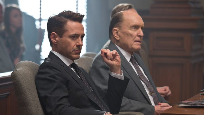"Robert Downey Jr. (left) and Robert Duvall star in ""The Judge."" The film is set in the fictional Indiana town of Carlinville."