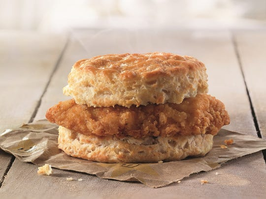 A breakfast biscuit from Hardee's, which is unveiling