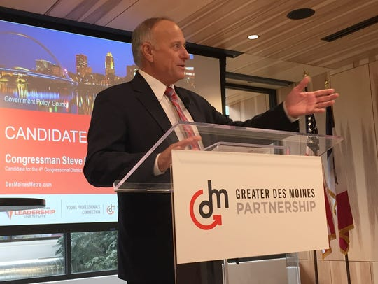 U.S. Rep. Steve King, R-Kiron, speaks to the Greater