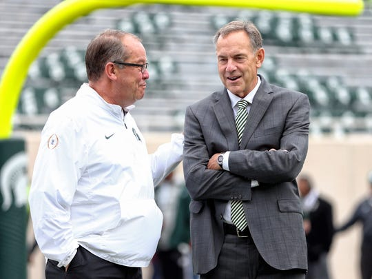 MSU football coach Mark Dantonio and athletic director