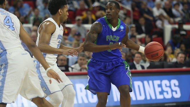 FGCU takes on UNC in the NCAA tournament on Thursday, March 17, 2016 in Raleigh, NC.