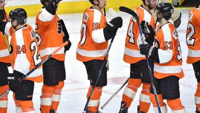 The Flyers are three points out of a playoff spot and hoping to tie a season-long win streak against Edmonton Thursday.