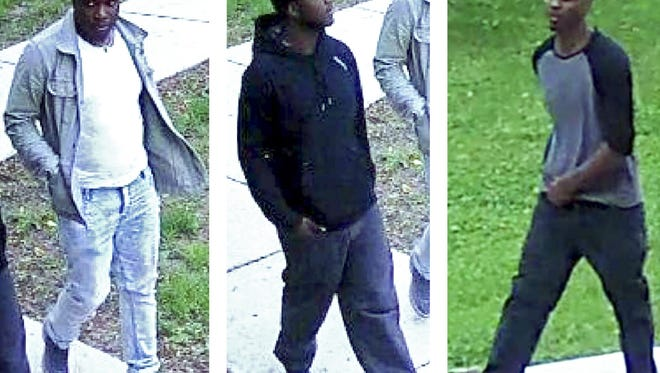 Madison Police released these security camera images of three men being sought in connection to a May 30 homicide. The man on the right is Odum L. Carter, 31.