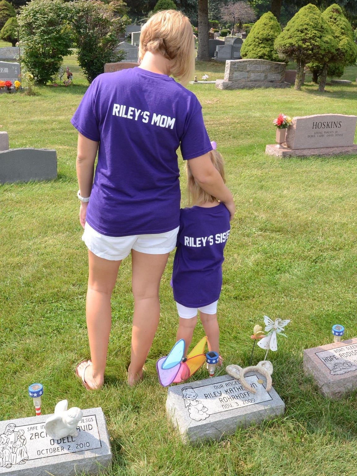 Katie Rohrhoff and daughter Payton wore their personalized