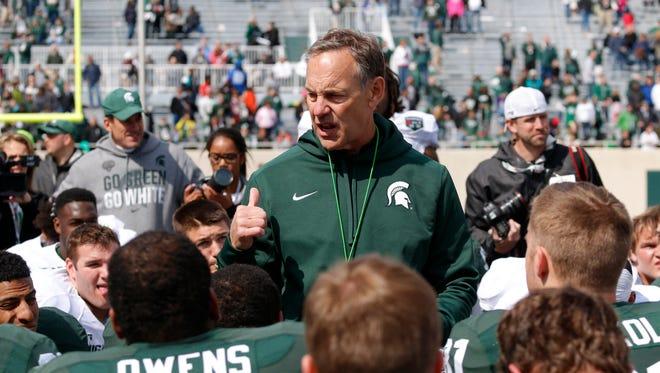 Michigan State coach Mark Dantonio.
