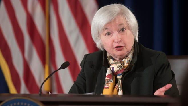 Fed Chair Janet Yellen recently said she would be uncomfortable raising interest rates if a measure of inflation were to weaken further.