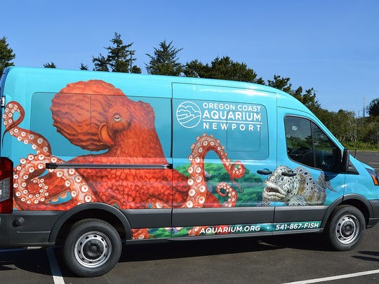 Traveling marine-science show: the Aquari-van is part of an educational outreach program presented by Oregon Coast Aquarium in Newport.