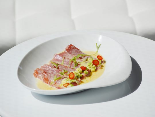 Open water tuna ceviche with green apple from Las Palmas