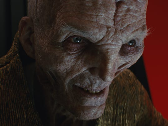 The First Order's Supreme Leader Snoke (played via