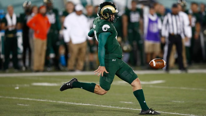 CSU punter Hayden Hunt (49) was named the Ray Guy Punter of the Week on Monday.
