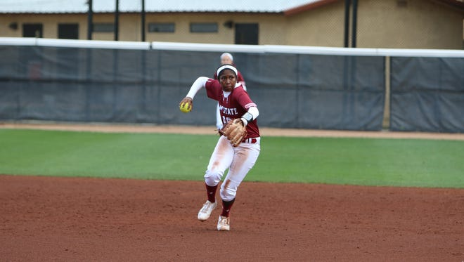 New Mexico State junior Rachel Rodriguez has been a spark for the Aggie offense at the top of the order.