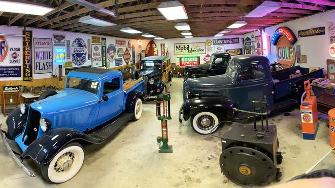 A collection of vintage automobiles and collectables owned by the late William (Bill) Walsh, former owner of Wood Bros. Moving and Storage Company of Portsmouth, will be auctioned on July 28.