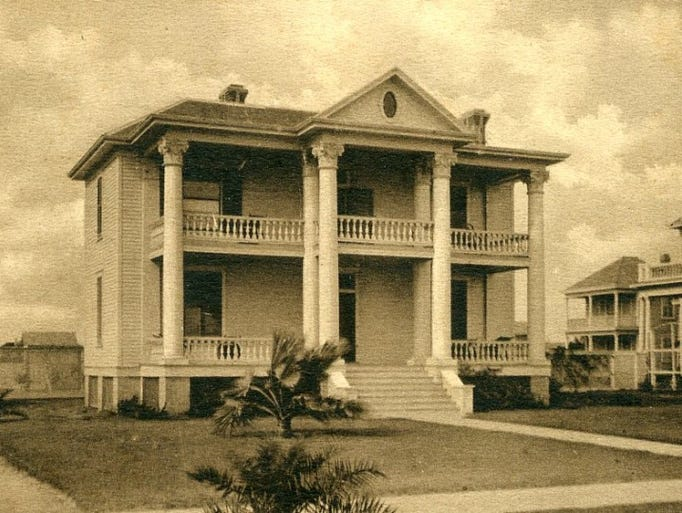 The Clark Pease home not long after it was built in