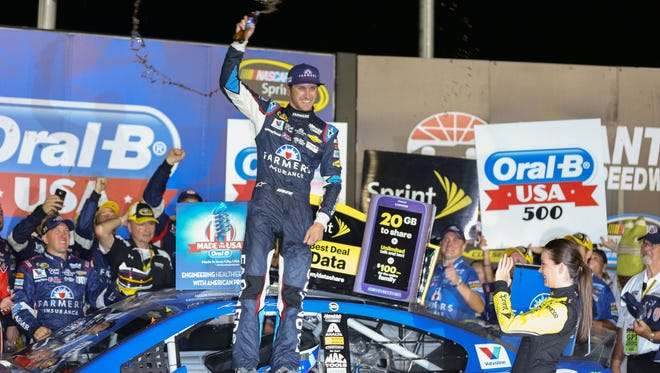 Kasey Kahne won for the first time since August 2013 and guaranteed all four Hendrick Motorsports drivers have a shot at the championship.
