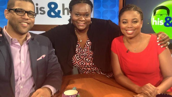 IndyStar Columnist Suzette Hackney visits the set of His & Hers, with co-hosts Jemele Hill and Michael Smith.