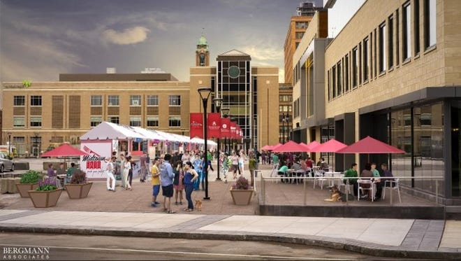 A rendering of Midtown Eats, which will be along Tower 280 in downtown Rochester.