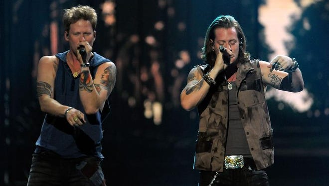 Florida Georgia Line will headline Country USA in Oshkosh Friday. The duo includes Brian Kelley (left) and Tyler Hubbard.