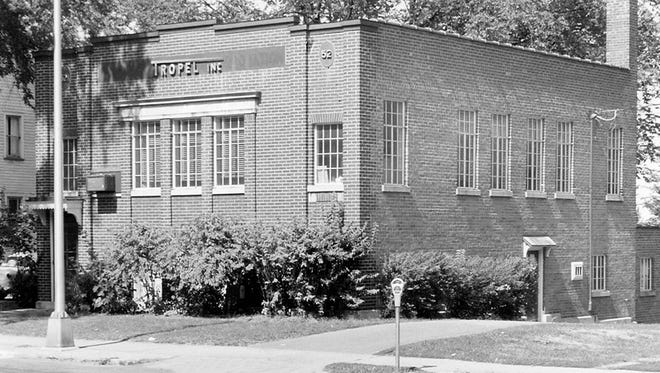 The old Rochester Telephone building, later owned by Tropel Inc., in Fairport.
