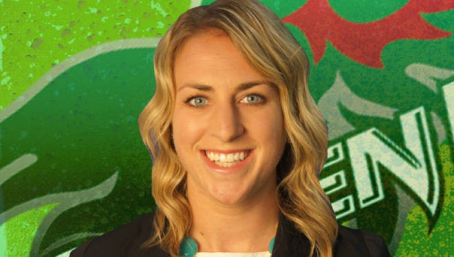Beth Spoehr, the new softball coach at the University of Wisconsin-Green Bay.