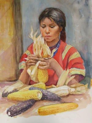 """""""Corn Maiden 2,"""" by Carolyn Bunch."""