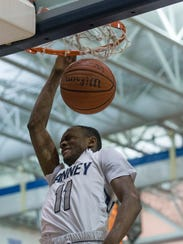 Ranney's Scottie Lewis gets out of the way of his own