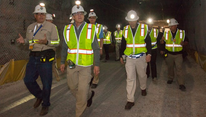 Secretary of Energy Rick Perry tours the WIPP site.