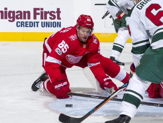 Defenseman Danny DeKeyser is still searching to regain