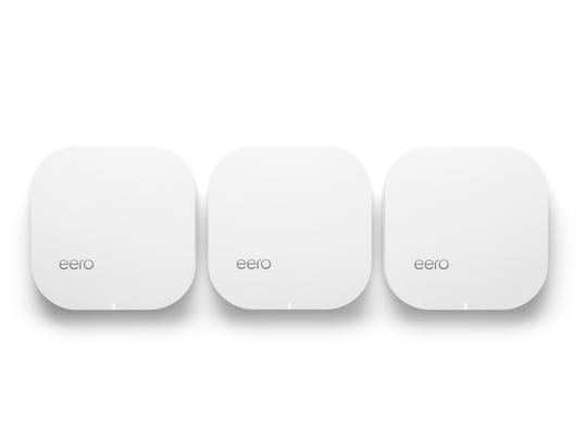 The basic eero system consists of three routers