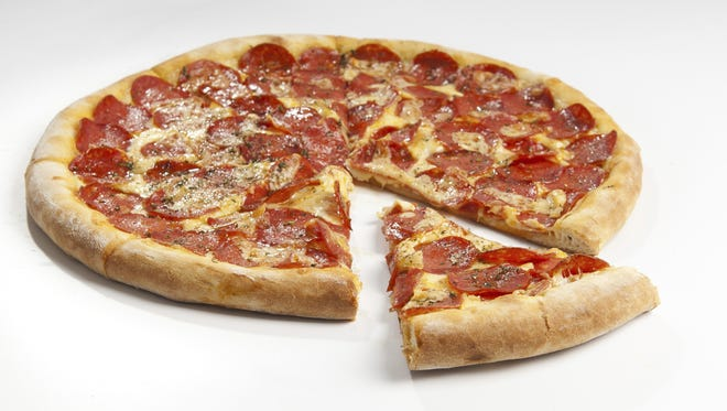Stock image of a pepperoni pizza