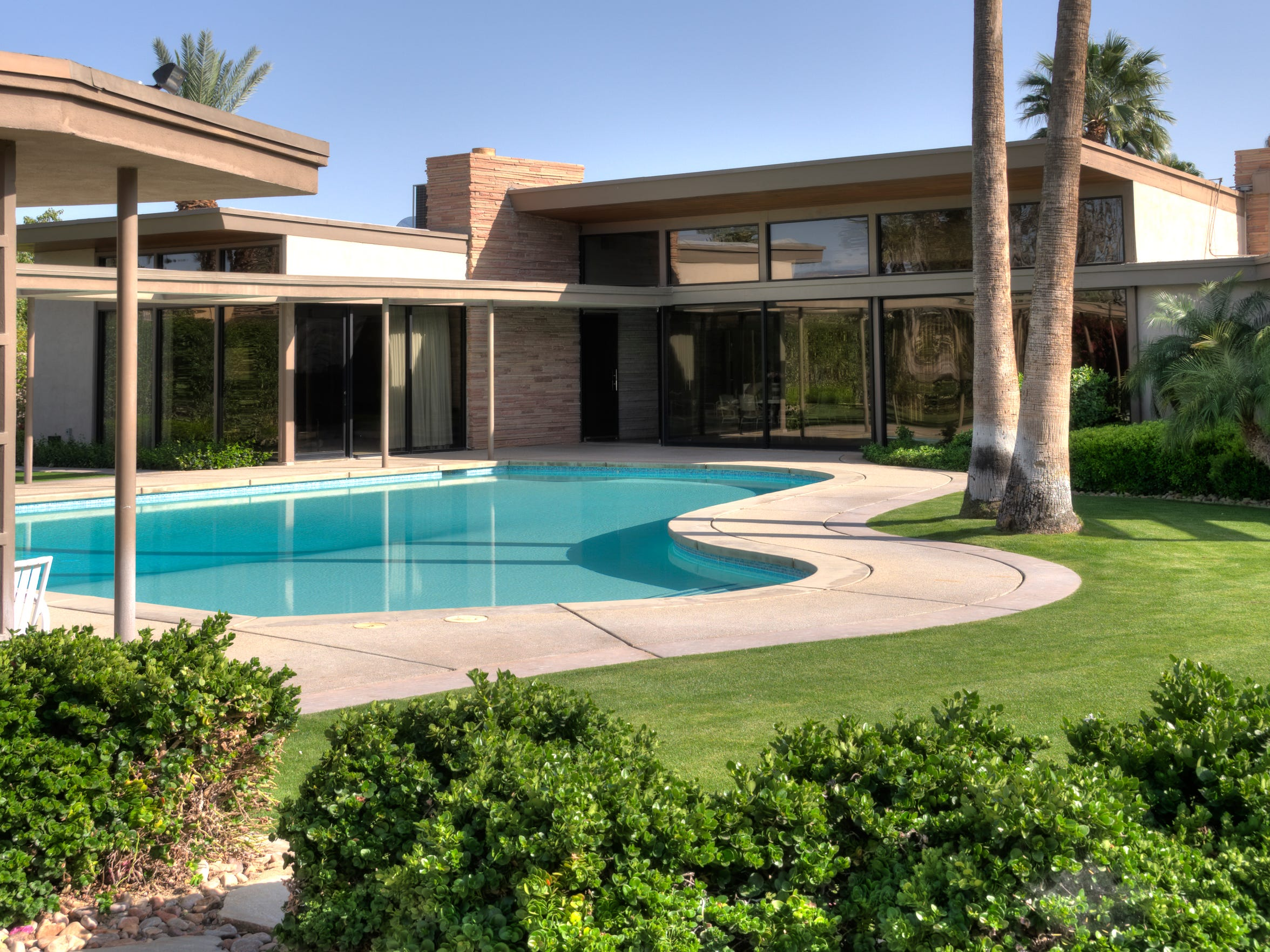 The Sinatra House in Palm Springs.