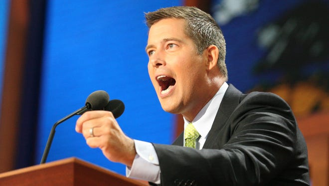 Rep. Sean Duffy, R-Wausau, speaks at the Republican National Convention in Tampa, Fla. on Tuesday, Aug. 28, 2012.