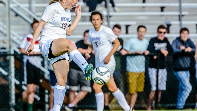 Anne Major of Okemos is one of five seniors for the Chiefs, who are the top seed in the CAAC Gold Cup tournament.