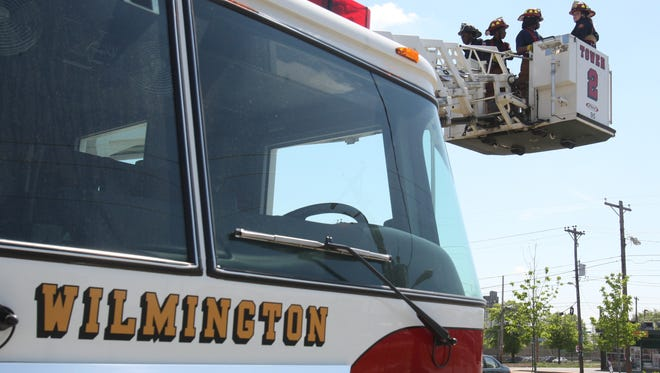 Wilmington Fire Department ladder truck.