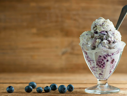 Ice cream blueberry