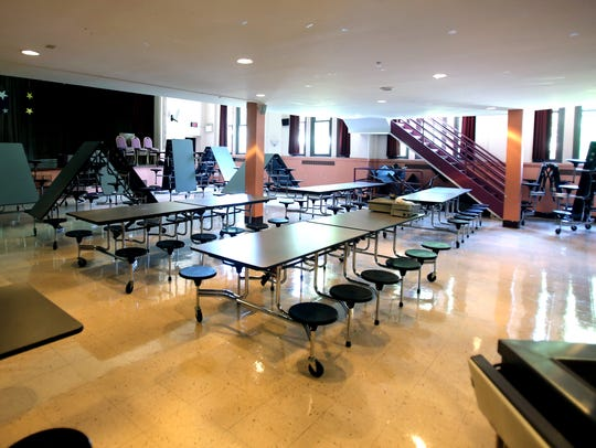 The auditorium will be the temporary cafeteria until