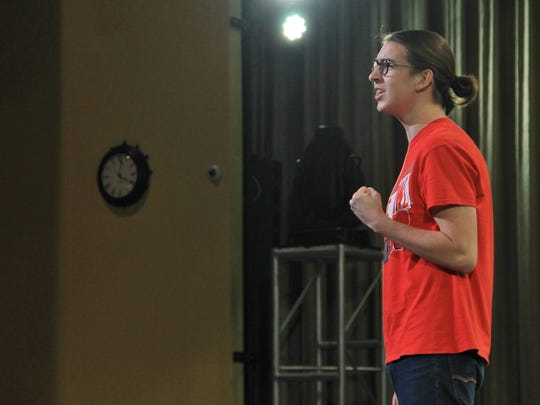 Senior Grant Singer taps into the emotional side of the 70s in a solo.