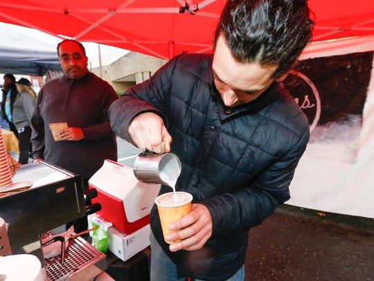 Adan Berrios, a chocolate maker from Nyack, makes a