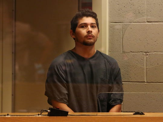 Eloy Carrera Jr., 20, of Illinois is arraigned on charges