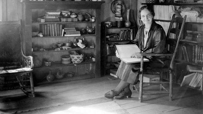 Sharlot Hall was a writer and poet. She was appointed Territorial Historian in 1909, the first Arizona woman to hold territorial office.