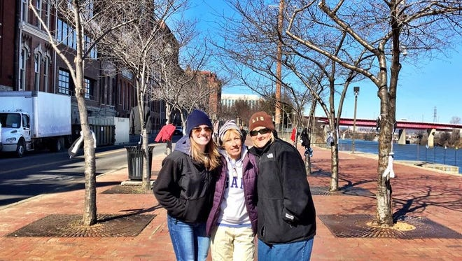 Connie Alexander (middle) is pictured with her daughter Callie Guenther and her sister Terrie Woodward, who help her each year.