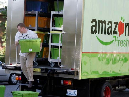 Amazon.com launched its grocery delivery business, AmazonFresh, in San Francisco on Wednesday.