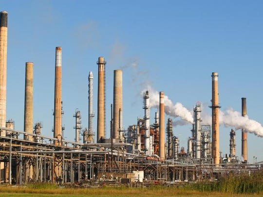The Delaware City Refinery is shown on Feb. 13, 2014.