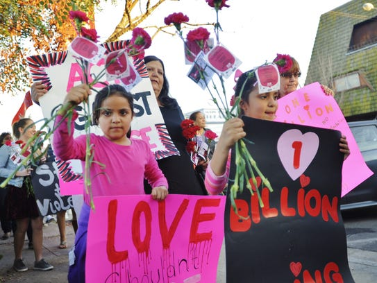 One Billion Rising marchers from around the world took