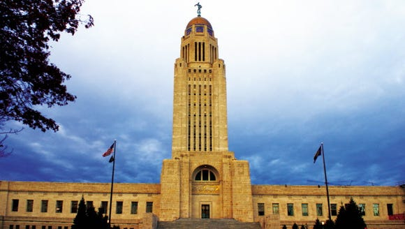 Nebraska's state capitol building, where the state