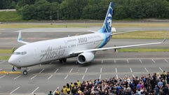 Alaska Airlines unveils a specially painted Boeing