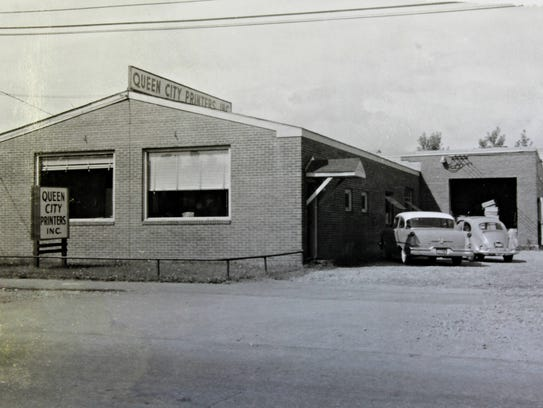 The Queen City Printers building on Pine Street in
