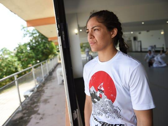Mixed martial artist Brogan Walker-Sanchez at Purebred