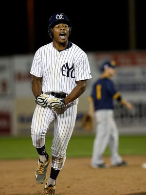 Xzavion Curry of the East Cobb Yankees rounds the bases after hitting a three-run home run against Midland Redskins on July 30 in Game 6 of the Connie Mack World Series at Ricketts Park in Farmington.