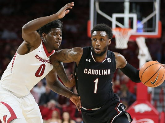 NCAA Basketball: South Carolina at Arkansas