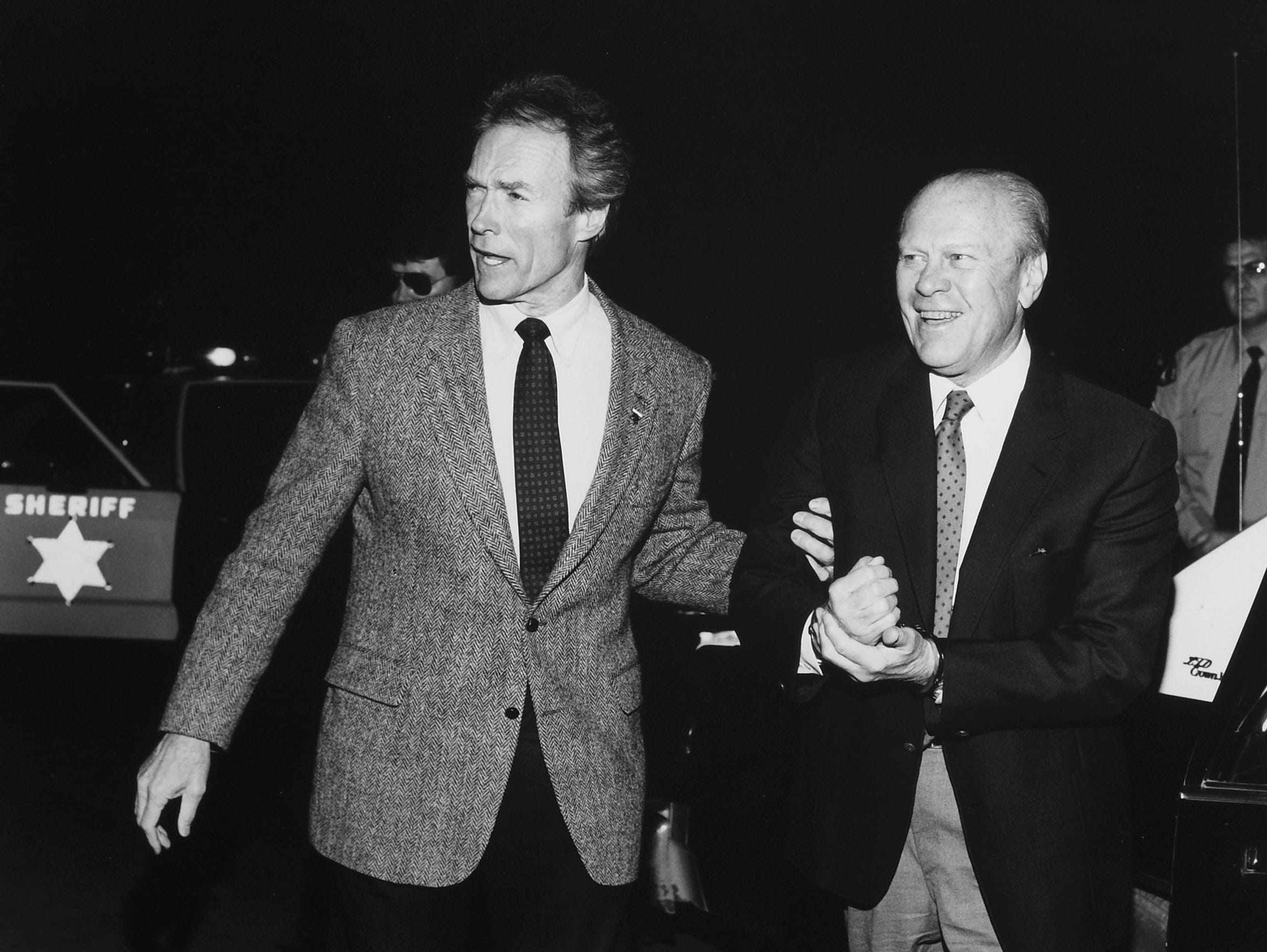 Actor Clint Eastwood and Gerald Ford.